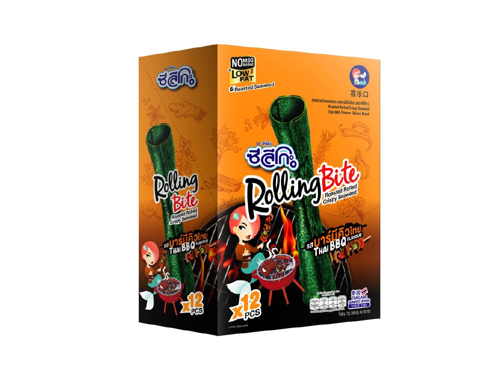 ซีลีโกะ Rolling Bite รสบาร์บีคิว กล่องละ 12 ชิ้น